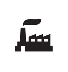 Factory plant - black icon on white background vector