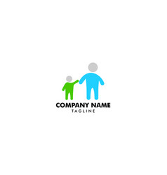 father and son logo design inspiration vector image