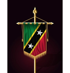 Flag of Saint Kitts and Nevis Festive Vertical Ban vector