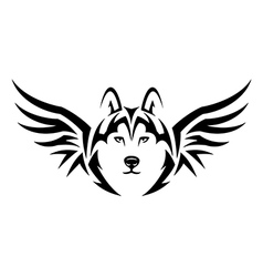 flying husky vector image