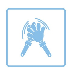 Football fans clap hand toy icon vector image