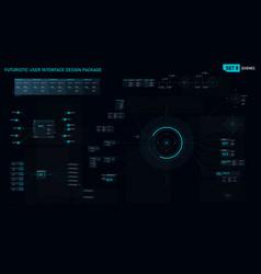 futuristic user interface design element set 08 vector image