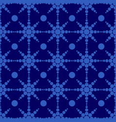 geometric circle shape seamless pattern blue and vector image