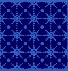 geometric circle shape seamless pattern blue vector image