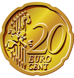 gold euro cent vector image