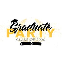 graduation label text for graduation design vector image