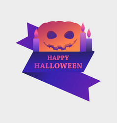 happy halloween october 31st greeting card with vector image