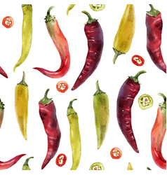 Hot chili pepper pattern vector