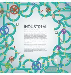 Industrial mechanism template vector