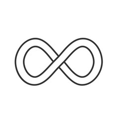 Infinity sign linear icon vector
