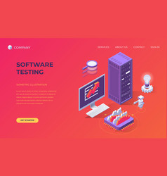 landing page for software testing vector image
