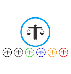 Lawyer weight rounded icon vector