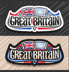 Logo for great britain vector