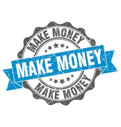 make money stamp sign seal vector image