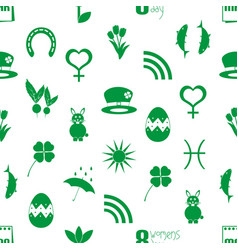 March month theme set of simple icons pattern vector