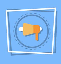 Megaphone icon loudspeaker web button vector