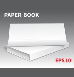 Mock-ups of paper books-14 vector
