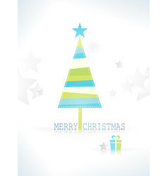 Modern minimalistic stylized christmas tree vector