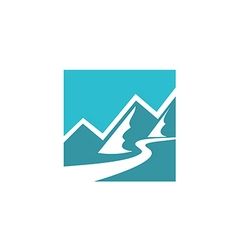 mountain icon abstract logo vector image