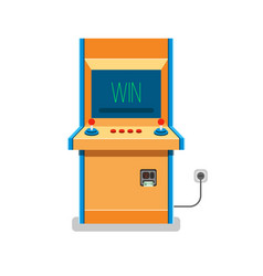old arcade machine vector image
