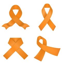 Orange awareness ribbons vector