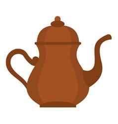 oriental turkish kettle for tea icon isolated vector image