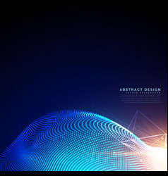 particles background in digital syber or vector image