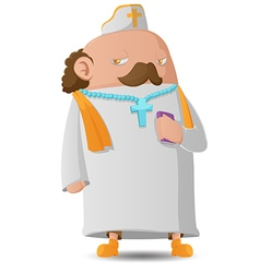 Pastor Man Character Cartoon Design vector image
