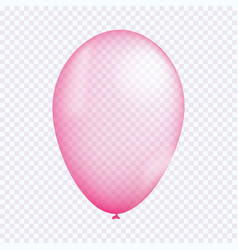 Pink balloon vector