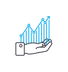profitability monitoring thin line stroke vector image