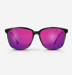 realistic modern eyeglasses vector image