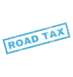 Road Tax Rubber Stamp vector