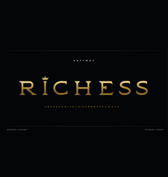 royal alphabet serif vintage stunning font vector image