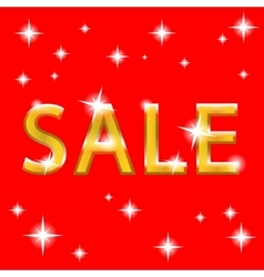sale gold design vector image