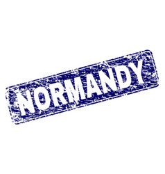 Scratched normandy framed rounded rectangle stamp vector