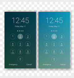 Screen lock smartphone display background vector