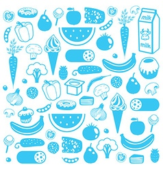 Seamless background of food vector image