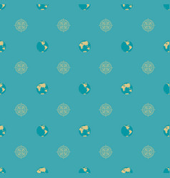 seamless pattern on theme travel vector image