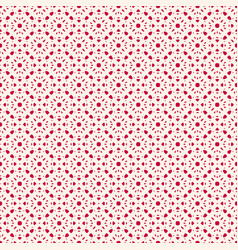 Seamless pattern red and white repeat floral vector