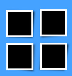 Set of retro photo frames vector