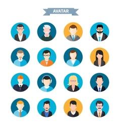 Set of stylish avatars man and woman icons vector