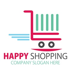 Shopping station or Online purchase logo vector