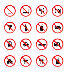 Sign red vector