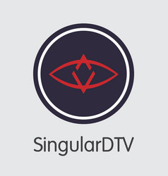 Singulardtv crypto currency sng web icon vector