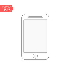 Smartphone line icon in iphone style cellphone vector