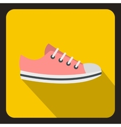 Sneaker icon in flat style vector image