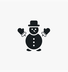 snowman icon simple winter sign vector image