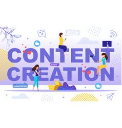 starting popular vlog channel flat concept vector image