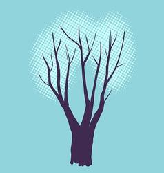 Stylized single tree on textured background vector image