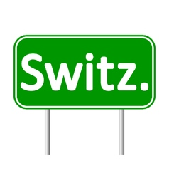 Switz road sign vector